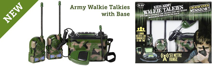 Army Walkie Talkies with base