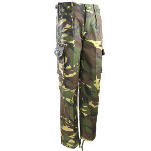 Kids Army Woodland Camo Trousers
