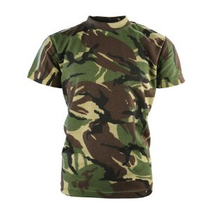 Kids Woodland Camo T Shirt