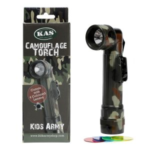 Camo Torch With 4 Coloured Lenses