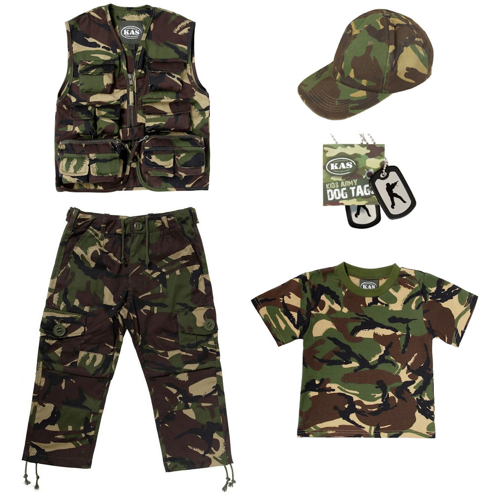 We offer authentic kids army clothes and military apparel from many branches of the US Military. Our economical selection of kids military clothes includes complete kids military uniforms, kids camo clothing, kids flight suits, and kids ghillie suits.