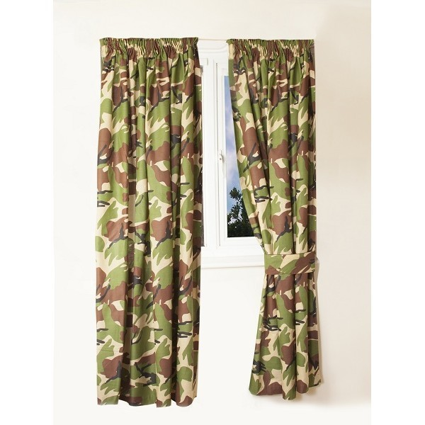 Kids Army Camouflage Curtains 66 Quot Width X 72 Quot Drop Army