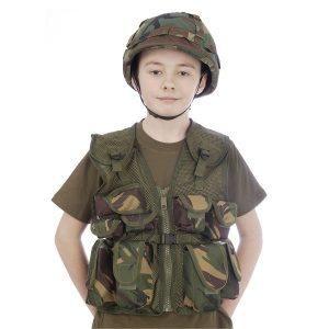 Camo Helmet & Assault Vest