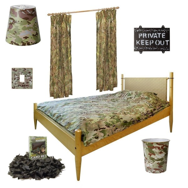 Kids army deluxe bedroom set mtp camo bedroom set army for Camo bedroom designs