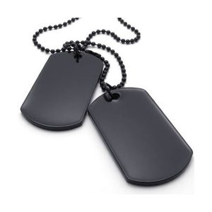 Kids Army SAS Black Dog Tags