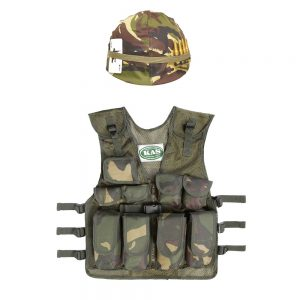 Camo Helmet & Assault Vest