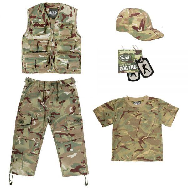 Kids Army Clothing Set