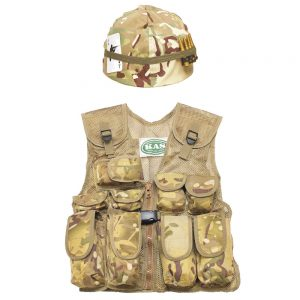 Kids Army Helmet Assault Vest