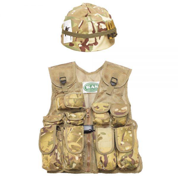 Kids Army Helmet Assault Vest