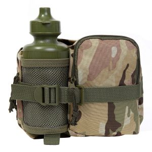 Camouflage Waist Bag And Bottle