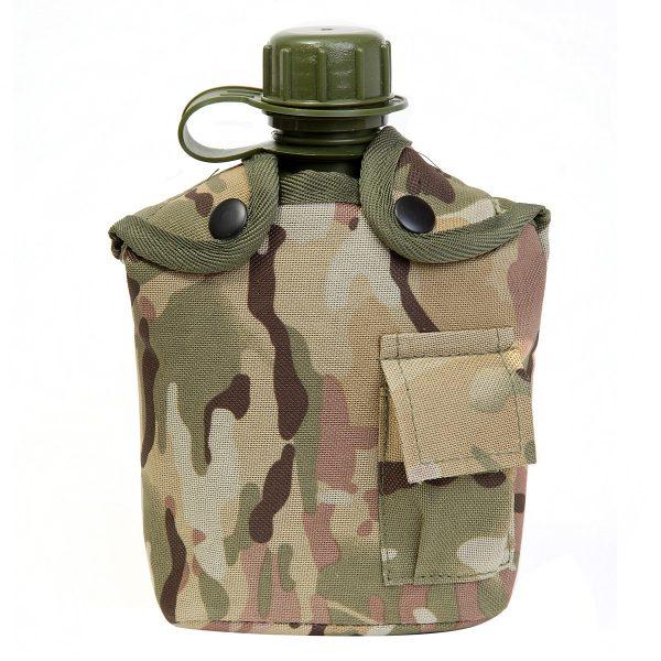 Army Water Bottle For Kids In Multi Terrain Camo Design