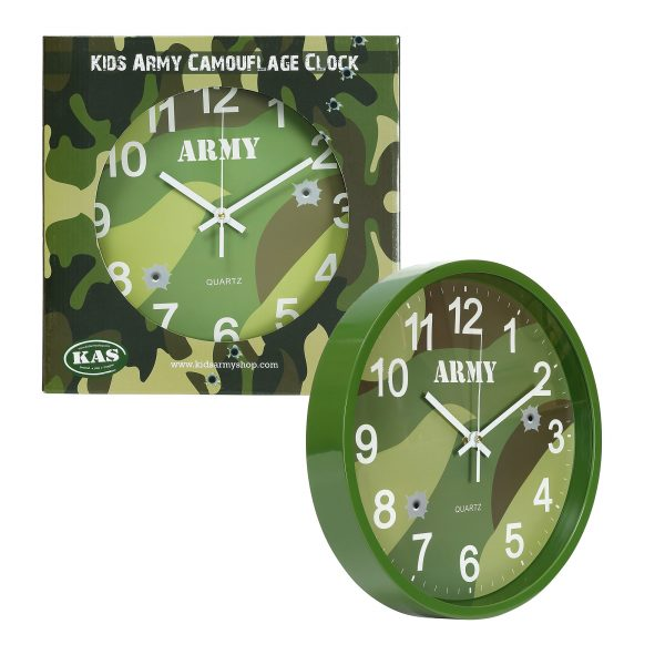 Army Camouflage Wall Clock