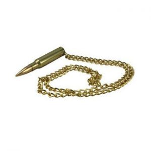 Brass 5.56 Bullet Chain Necklace