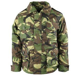 Kids Army Woodland Camo Jacket