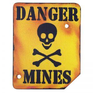 Danger Mines Wall Plaque