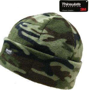 Kids Fleece Camouflage Hat