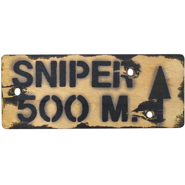 Sniper 500m Wall Plaque