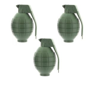 Set Of 3 Toy Army Hand Grenades